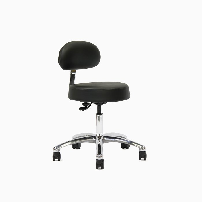 Black dental stool