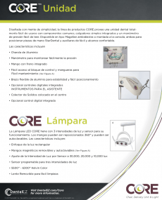 Download CORE Operatory Package Brochure (Spanish)