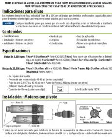 Download Titan Handpiece Motor Manual Spanish
