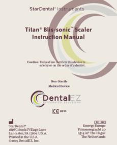 Download Titan® Blis-sonic™ Product Manual