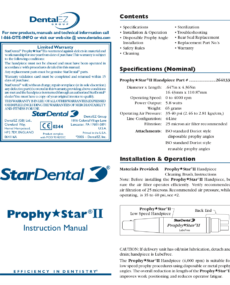 Download Phrophy Star II Instruction Manual