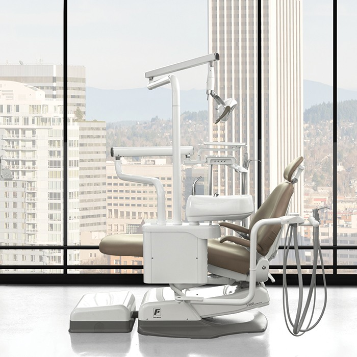 Dental chair in high rise building
