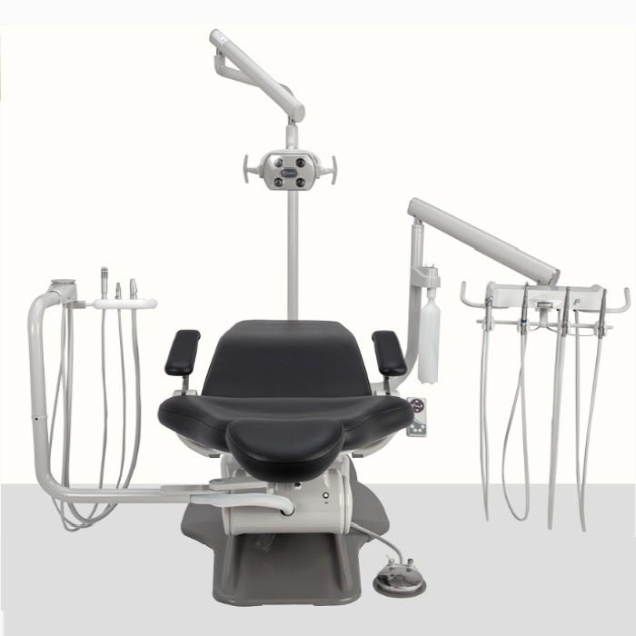 Top of dental chair